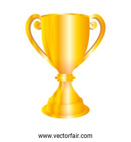 trophy cup with ears golden icon