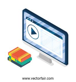 desktop electronic device with elearning ebooks