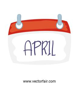 calendar with april word icon