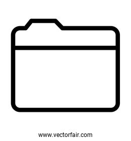 interface user ui concept, document folder icon, line style