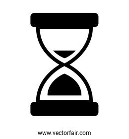 hourglass icon image, silhouette style