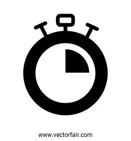 stopwatch icon image, silhouette style
