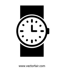 wristwatch accessory icon, silhouette style