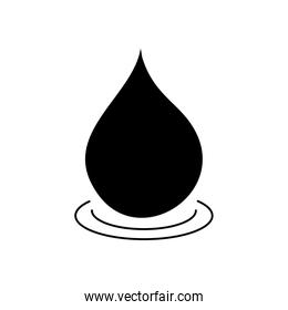 water drop icon, silhouette style
