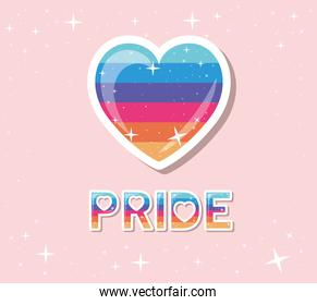 lgtbi heart with pride text vector design