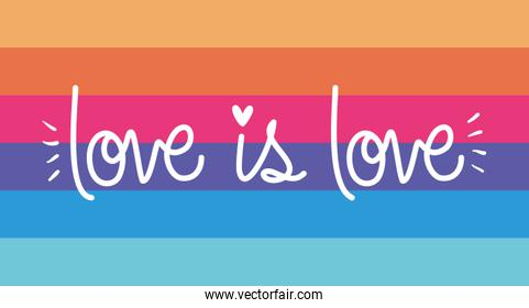 lgtbi flag with love is love text vector design