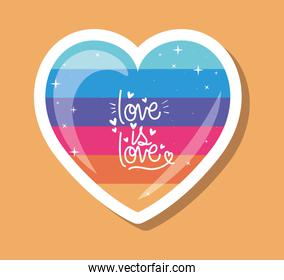 lgtbi heart with love is love text vector design