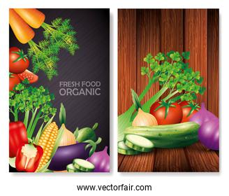 set of fresh organic vegetables, healthy food, healthy lifestyle or diet