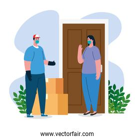 safe contactless delivery to home to prevent the spread of coronavirus 2019 ncov