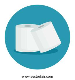 Isolated toilet papers vector design