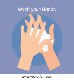 washing hands with soap, pandemic of coronavirus, self protect from covid 19, wash your hands prevent 2019 ncov