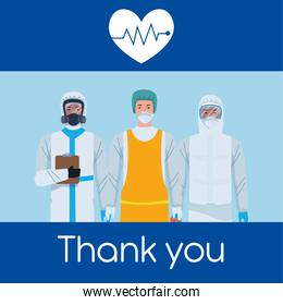 medical staff workers thank you message