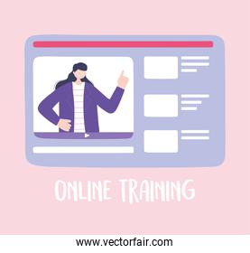 online training, website woman conference content, courses knowledge development using internet