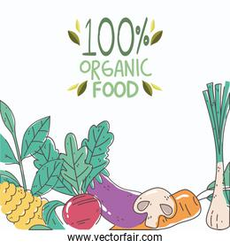 organic nutrition healthy food with fresh fruits and vegetables