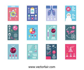 set of icons healthcare infographics