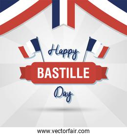 bastille day celebration  with france flags