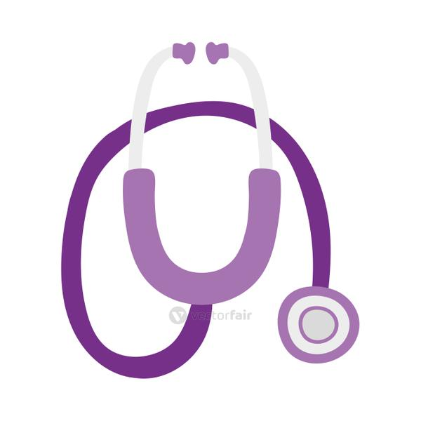 Isolated medical stethoscope vector design