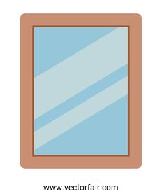 Isolated home frame vector design