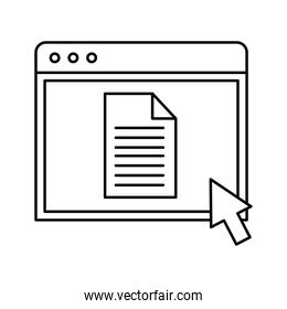 Website page silhouette style icon vector design