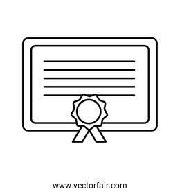 Isolated graduation diplom silhouette style icon vector design