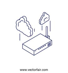 router communication technology with cloud computing