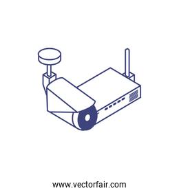 cctv video camera device with router