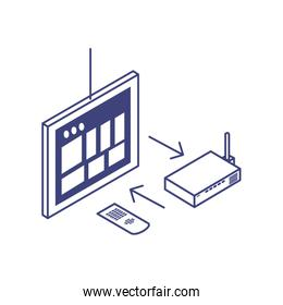 tablet device with router technology