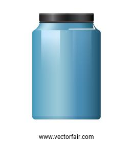 pot bottle product with metalic blue color