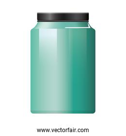 pot bottle product with metalic green color