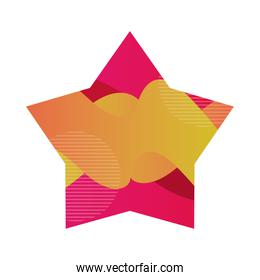 star shape frame with vivid colors