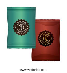 elegant colors coffee paper bags packings products