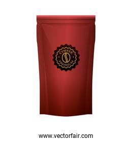 red coffee paper bag elegant packing product