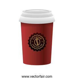 elegant red cup of coffee product