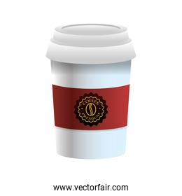 elegant red and white cup of coffee product