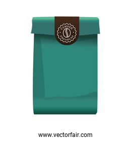green coffee paper bag elegant packing product