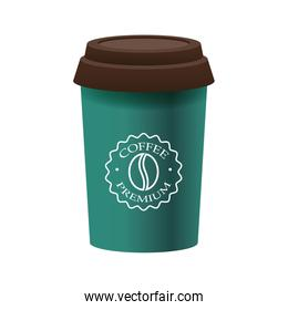 elegant green cup of coffee product