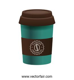 elegant green and brown cup of coffee product