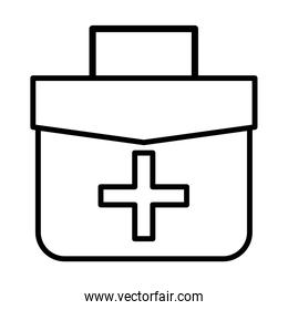 medical kit line style icon