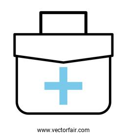 medical kit line half color style icon