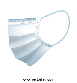 medical mask protection accessory line style icon