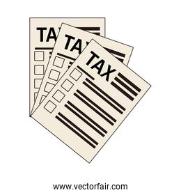 tax financial document paper isolated designs