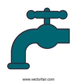 tap faucet water isolated icon