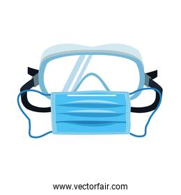 medical mask and goggles protection accessories