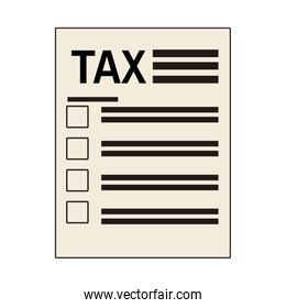 tax financial document paper isolated icon