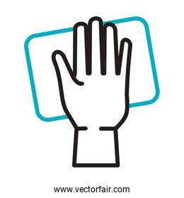 hand cleaning surface line style icon