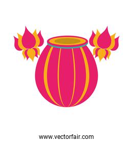 indian lamp color decoration icon