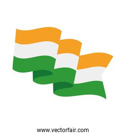 india country flag isolated icon