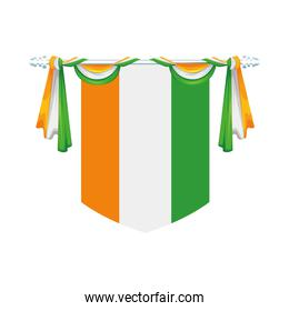 decoration hanging with india country flag isolated icon
