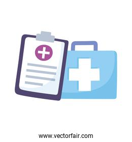 telemedicine, kit first aid medical report and treatment and online healthcare services