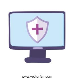 telemedicine, computer device shield medical treatment and online healthcare services